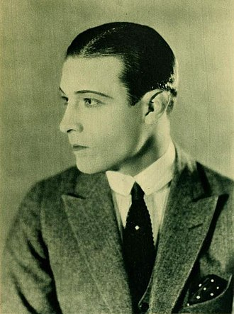 Matinée idol - Rudolph Valentino is the epitome of a matinée idol.