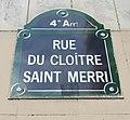 Rue du cloître saint Merri - plaque.jpg