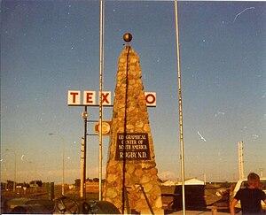 Rugby, North Dakota - Obelisk near Rugby