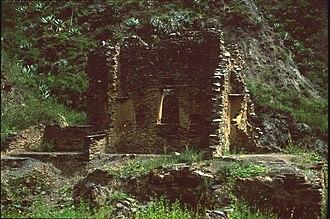 Aucapata Municipality - Ruins at the archaeological site of Iskanwaya in the Aucapata Municipality