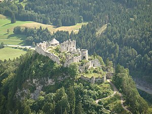 Ehrenberg Castle - The castle from the air