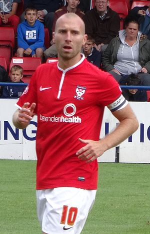 Russell Penn - Penn playing for York City in 2014