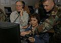 Ruth Samartic acts as the vehicle driver on the Virtual Convoy Trainer.jpg