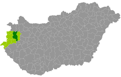 sárvár térkép magyarország Sárvár District   Wikipedia sárvár térkép magyarország