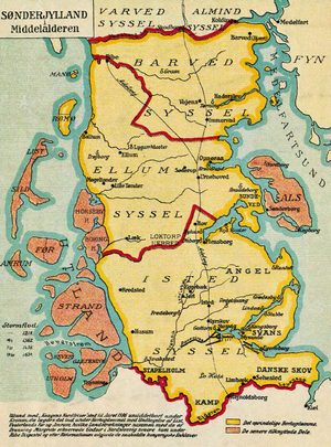 North Frisian Islands - Image: Sønderjylland i middelalderen