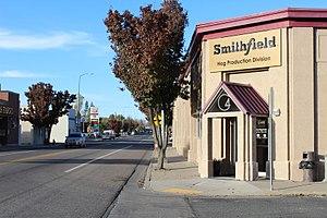 Milford, Utah - Looking north on South Main Street (SR-21), October 2017