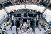 A 737-800 cockpit