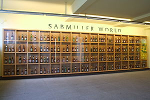 SABMiller - SABMiller beers on display as SABMiller World in Pilsen, Czech Republic