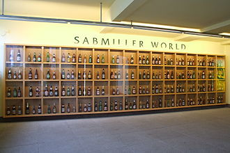 Display case - Image: SAB Miller beers