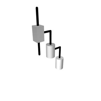 SCARA - Kinematic diagram of SCARA configuration