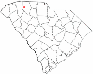 Reidville, South Carolina - Image: SC Map doton Reidville