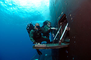Airlock - US Navy submarine diving lock out, 2007.