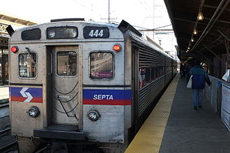 Wilmington/Newark Line - SEPTA Regional Rail train at Wilmington station