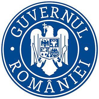 Ministry of Regional Development and Public Administration (Romania) - Image: SIGLA GUVERNULUI ROMÂNIEI