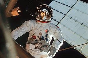 Skylab 3 - Astronaut Jack Lousma participates in an EVA