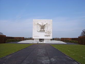 Ardennes American Cemetery and Memorial - American eagle memorial