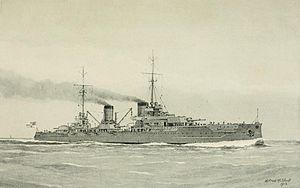 SMS Von der Tann - Illustration of Von der Tann underway