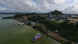 Transport in Trinidad and Tobago - King's Wharf with water taxis in San Fernando