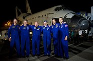 STS-134 crew after landing