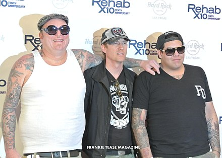 Freese (center) alongside his Sublime with Rome bandmates. SUBLIME with Rome, Red Carpet Rehab10 Las Vegas, Hard Rock Hotel (8670448061).jpg
