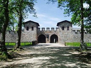 is the cohort  castrum, part of the Limes Germanicus, and is the most completely reconstructed Roman fort in Germany