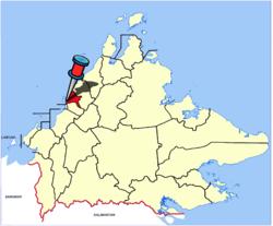 Location of Kota Kinabalu in Sabah