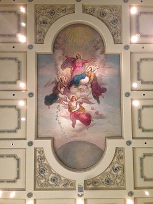 St. Ignatius Church (Baltimore) - The Assumption of Mary painted by William Brecht