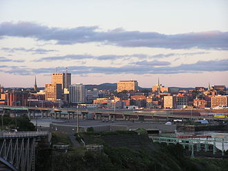 Saint John River (Bay of Fundy) - Image: Saint John, NB, skyline at dusk 8