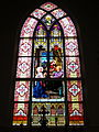 Saint Rose Catholic Church (Cassela, Ohio) - interior, stained glass, the Death of Saint Joseph.jpg