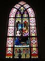 Saint Rose Catholic Church (Cassela, Ohio) - interior, stained glass, the Death of Saint Joseph.jpg