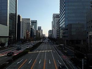 Naka-ku, Nagoya - Image: Sakura dori Street from Nichigin mae Crossroads (east)