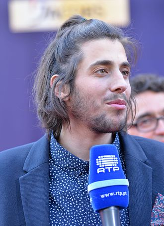 Portugal in the Eurovision Song Contest 2017 - Salvador Sobral during the opening ceremony of Eurovision 2017