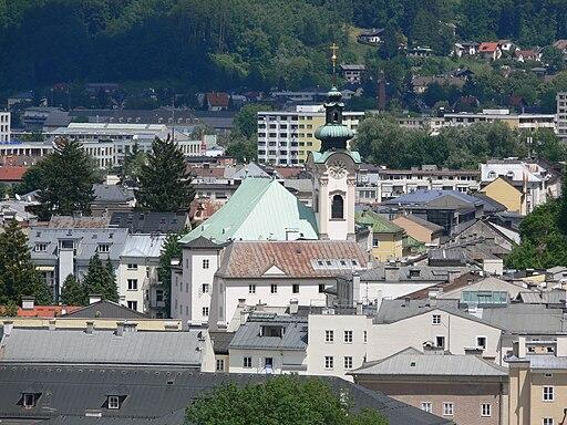 Salzburg Sebastianskirche vom Mönchsberg
