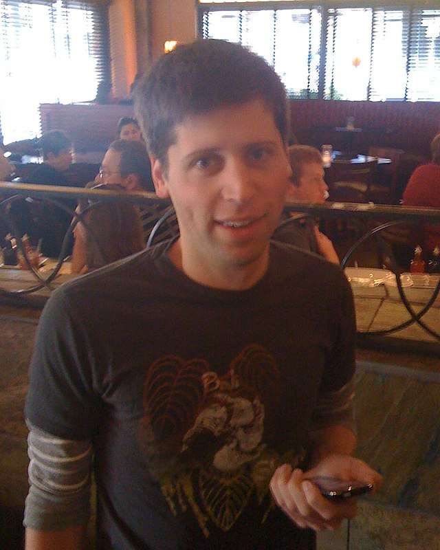 From commons.wikimedia.org: Sam Altman in 2009 {MID-69956}