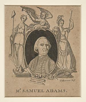 Samuel Adams - Adams as portrayed by Paul Revere. 1774. Yale University Art Gallery