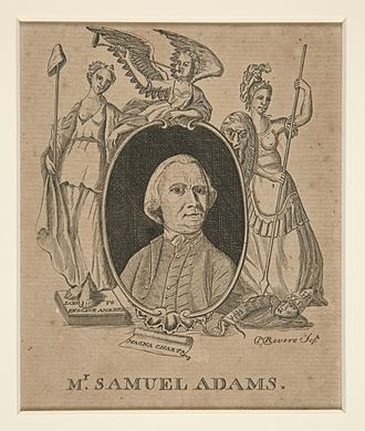Samuel Adams - Adams as portrayed by Paul Revere. 1774. Yale University Art Gallery