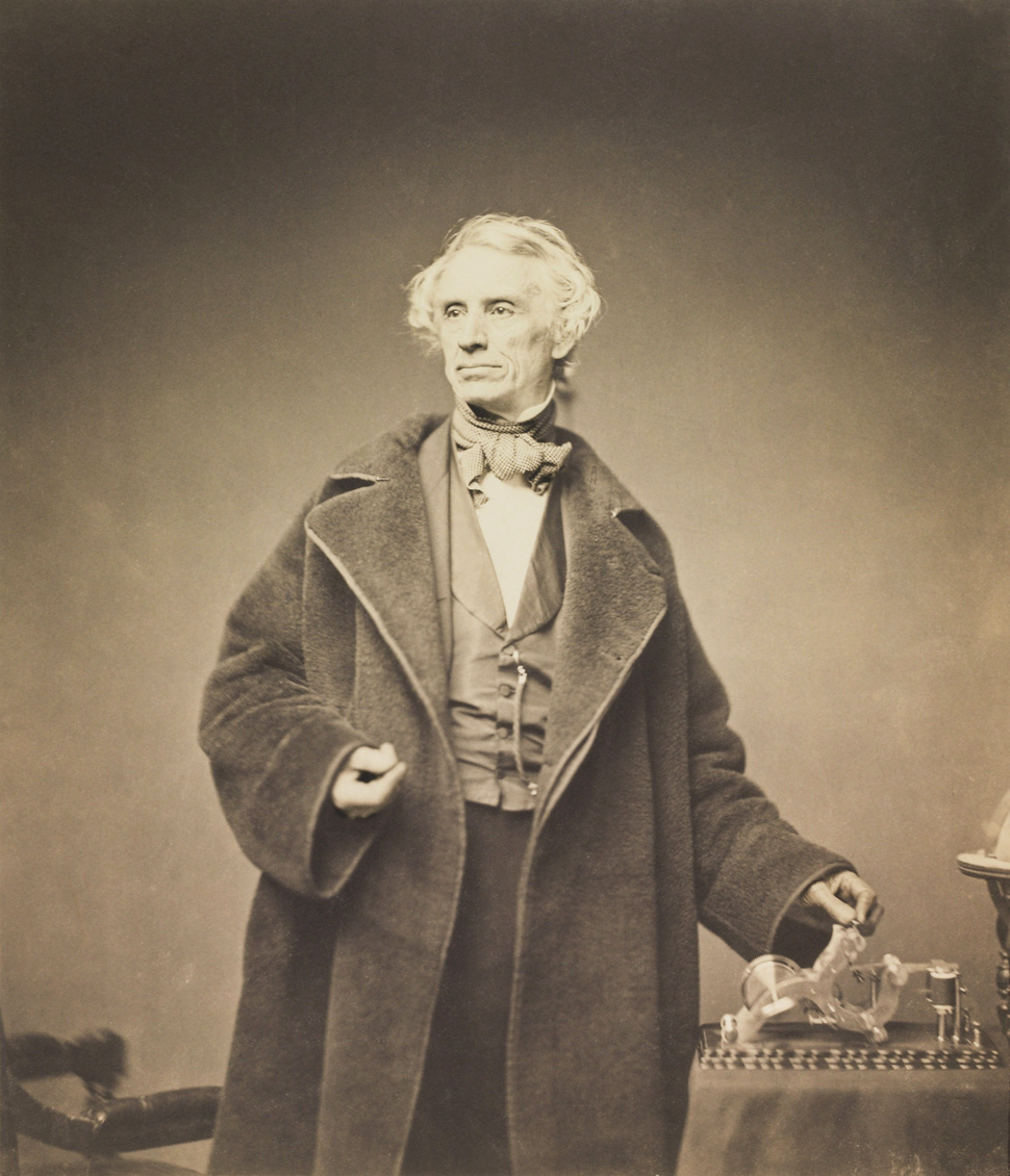 Samuel Morse with his Recorder by Brady, 1857