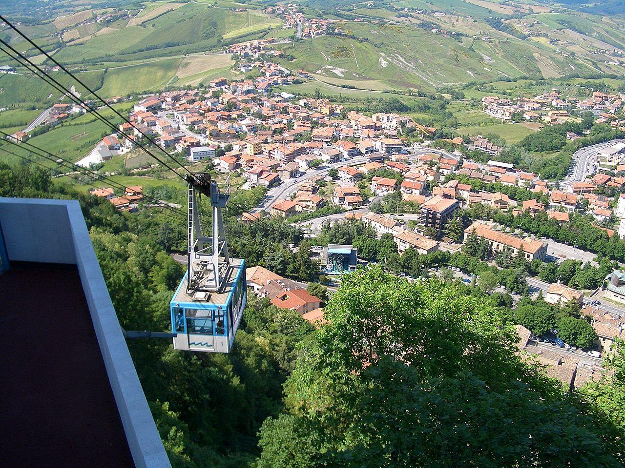 Jalur kereta gantung ke Monte Titano