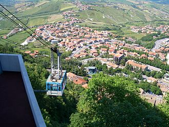 Transport in San Marino - Aerial tramway to Monte Titano