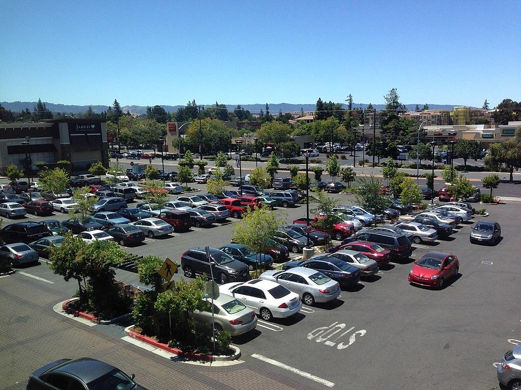 File San Antonio Shopping Center Parking Lot In Mountain