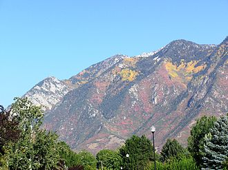 Wasatch Range - The Wasatch Mountains in the fall.