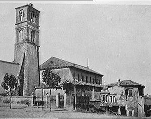 Sant'Agnese fuori le mura - The outside of Sant'Agnese fuori le Mura taken in 1911.