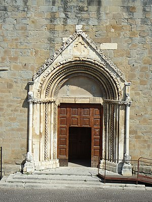 Church of Sant'Agostino, Amatrice - The church's portal