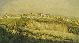Economic history of Colombia - Agricultural area surrounding Santa Rosa de Osos, 1852
