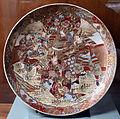 Satsuma, grande piatto con figure di samurai, periodo meiji, 1890-1900 ca.JPG