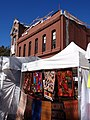 Saturday Market Stalls with Historic 1904 Facade - Downtown Portland - Oregon - USA.jpg