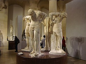 Omphaloskepsis - Four statues depicting omphaloskepsis