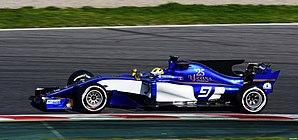 Sauber C36 - Image: Sauber C36 Ericsson Barcelona Test