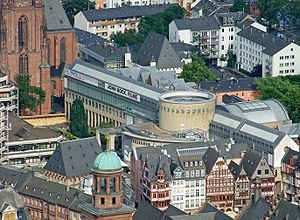Schirn Kunsthalle Frankfurt - The Kunsthalle from above in the northwest
