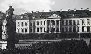 Dönhoff - Friedrichstein Palace, 20 km east of Königsberg, burnt down by the Red Army in January, 1945
